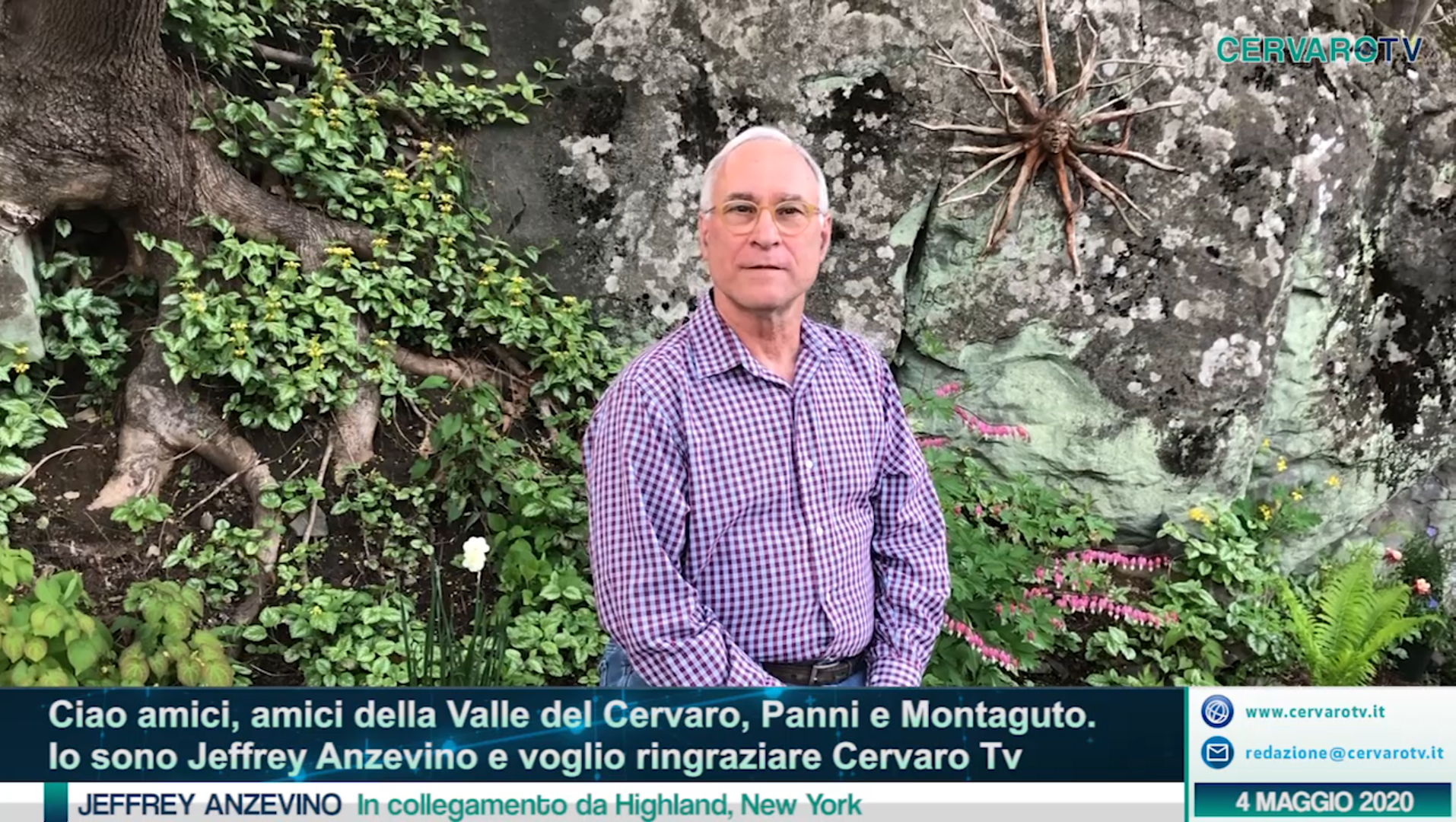 CERVARO TV | Lo splendido saluto video di Jeffrey Anzevino da New York
